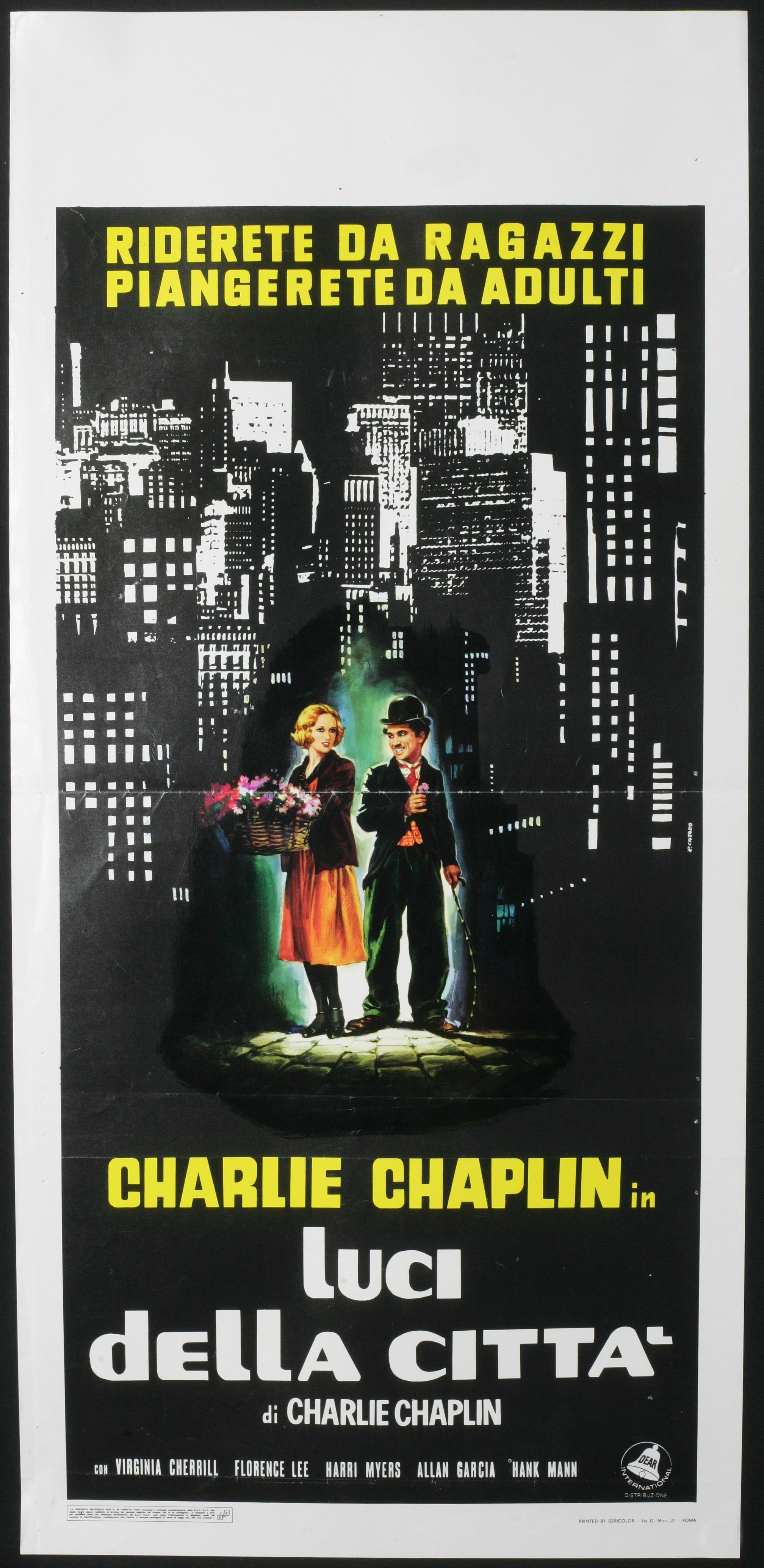 CINEMA-locandina LUCI DELLA CITTA' charlie chaplin | eBay