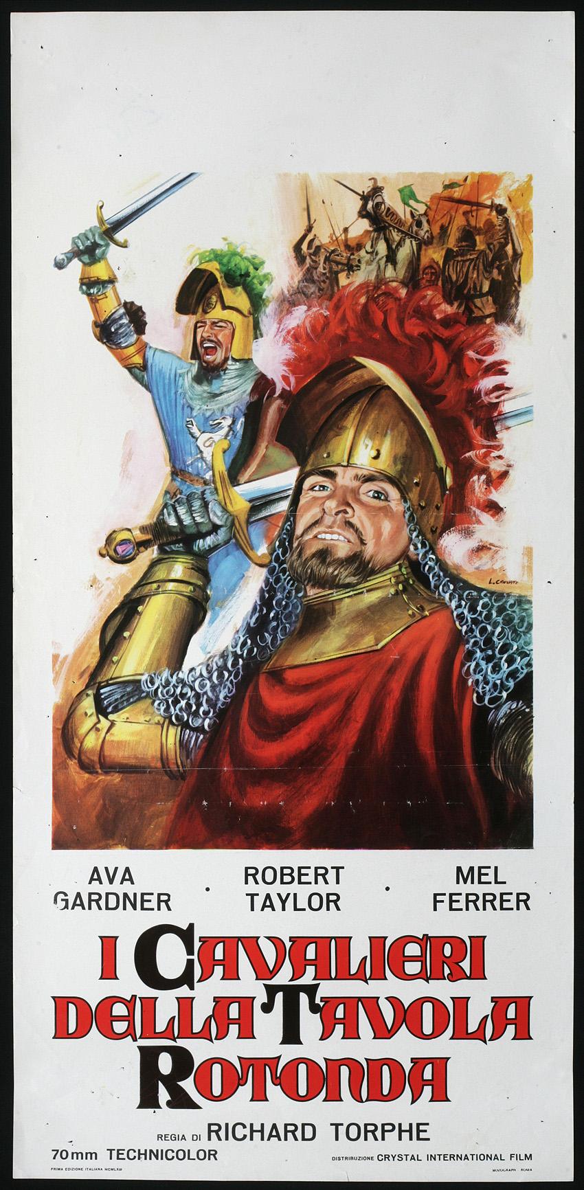 Cinema locandina cavalieri della tavola rotonda gardner ebay - I cavalieri della tavola rotonda film ...