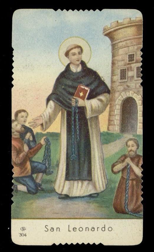 "santino-holy card""""ediz. GN n.304 S.LEONARDO AB. DI NOBLAC/LIMOGES | eBay"